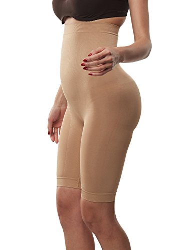Beilini Women's Shapewear Thigh Slimmers Tummy Control Shorts High-Waist Panty Beige, XX-Large