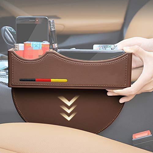 Yika – Autotasche / Zwischenraumtasche aus Premium-PU-Leder; Sitz-Organizer für Mercedes Benz AMG