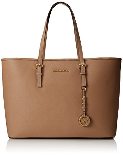 MICHAEL Michael Kors Bag Interior: center zip compartment, 3 slip pockets, 1 zip pocket Gold-tone hardware; self-color stitch trim 17-in. L x 11.5-in. W x 5-in. D Saffiano Leather