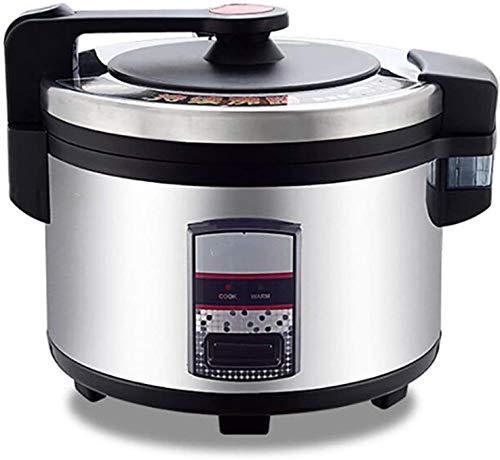 Fornello di riso di grande capacità, funzione di conservazione del calore, vaso interno, spatola e tazza di misurazione, fare riso e cibo sano al vapore e verdure, nero (10L / 15L / 1600W / 220V)