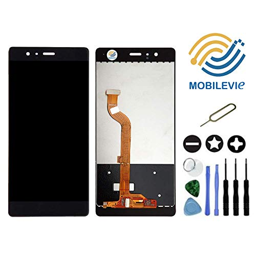 Mobilevie Pantalla Táctil + Pantalla LCD Original Montaje de Préstamo para Huawei P9 Negro+Herramientas