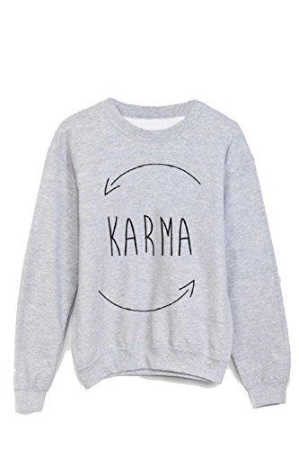 Youdesign Sweatshirt Karma Ref 844 Gr. M, weiß