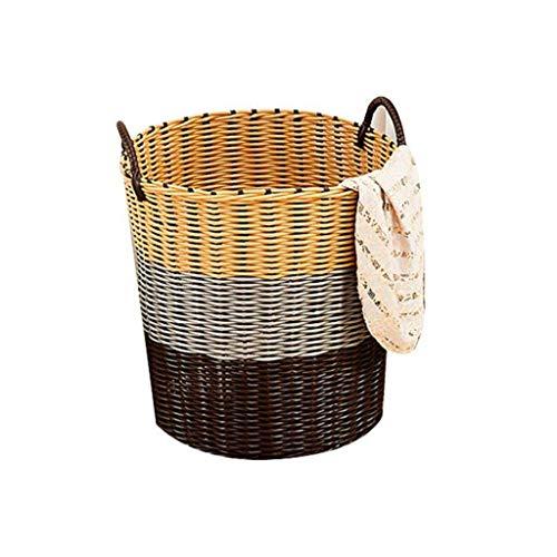 Planken vuile kleren Storage Basket, Plastic Rattan Wasmand Toy Storage Basket (Kleur: B, Maat: L), Afmeting: Kleur: Een Bloempot Rack (Kleur: B, Maat: Large) XIUYU (Color : B, Size : Large)