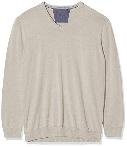 s.Oliver Big Size Herren 15.907.61.7008 Pullover, Beige (Sand 8088), XXXXX-Large (Herstellergröße: 5XL)