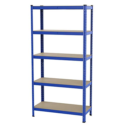 Yaheetech Lagerregal 180 x 90 x 40 cm, 5 Böden Kellerregal Werkstattregal, Tragkraft bis zu 175 kg pro Fachboden