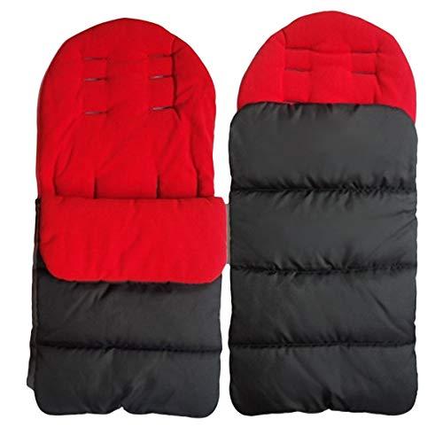 Derclive - Saco de dormir para bebé universal 3 en 1, resistente al viento, cálido, saco de dormir para silla de coche, 4 colores
