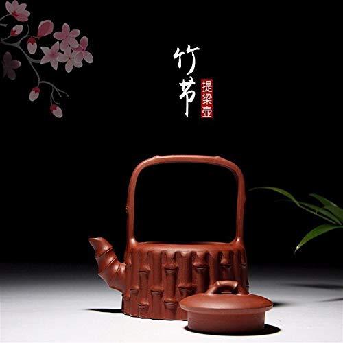 GuoQiang Zhou - Tetera famosa con taza de te hecha a mano para la casa, tetera de disfraz de gantry, color morado