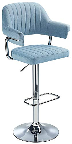 Retro Style Aviator Fabric Bar Stool (Blue)