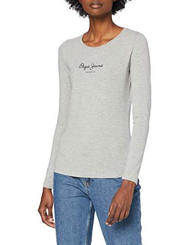 Pepe Jeans New Virginia LS PL502755 Camiseta, Gris (Grey Marl 933), Medium para Mujer