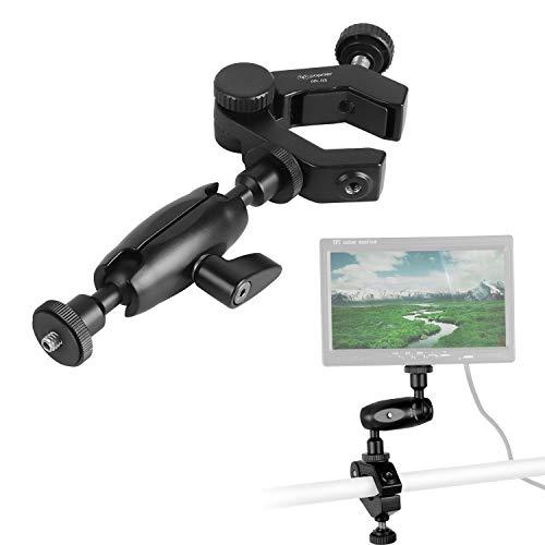 Verstellbarer Doppel-Kugelkopf-Verbindung, Reibungskraft, Gelenkarm und flexibel, Starke Rohrschiene, Klemme für LED-Beleuchtungsfeld-Monitor