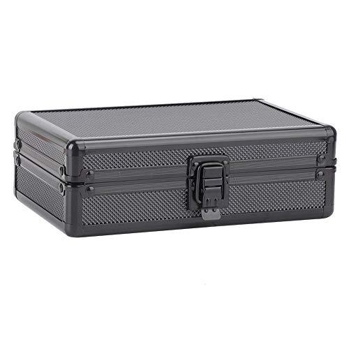 HEEPDD Zigarren schachtel, 7,9 x 5,2 x 2,4 Zoll Tragbare Aluminiumschale Zigarren aufbewahrungs Koffer Mini Travel Outdoor Zigarrenschachtel mit Luftbefeuchter für 10 Zigarren