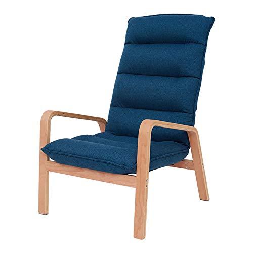 LINGZE Sillones para Sala de Estar, Silla de Tela de Lino con Respaldo Desmontable, sofá Individual, sillas para Dormitorio, hogar