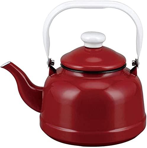 Esmalte retro Tetera de hoguera para el hogar, cocina de inducción Estufa de gas Halógena Universal, Antiguo Kettle de campana 2.7L (Color: Azul)