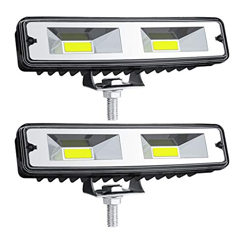 Iusun 12V 48W LED Work Light BAR Lamp for Off-Road 4WD SUV ATV CAR Lamps 2PC Car Dashboard Light Car Replacement Lamp Accessory