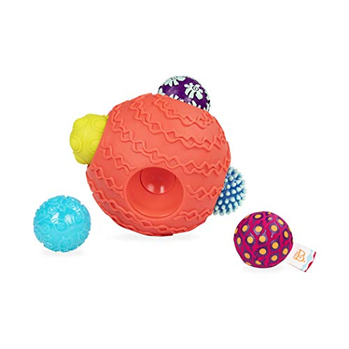 B. toys by Battat Ballyhoo Baby Ball – 1 Big Textured Ball with 5 Small Sensory Balls – Developmental Toys for Babies 6 Months +