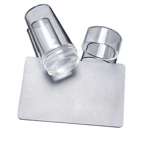 Nail Art Stamper DIY pleine silicone transparent clou à tête d'impression d'art Emboutissage Stamper Scraper Outils de manucure