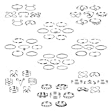 ONESING 63 Pcs Knuckle Rings for Women Stackable Rings Set Bohemian Retro Vintage Joint Finger Rings Hollow Carved Flowers Silver Knuckle Midi Rings