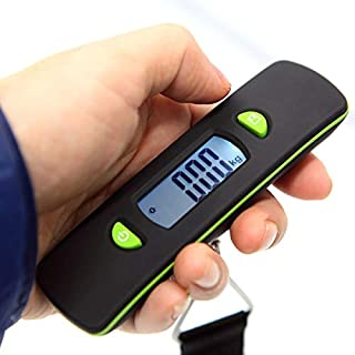 JJJJD Baggage Scale Small Rechargeable Luggage Scale Portable Home Travel Electronic Scale (Weighing Range 50kg-50g) (Color : Green)