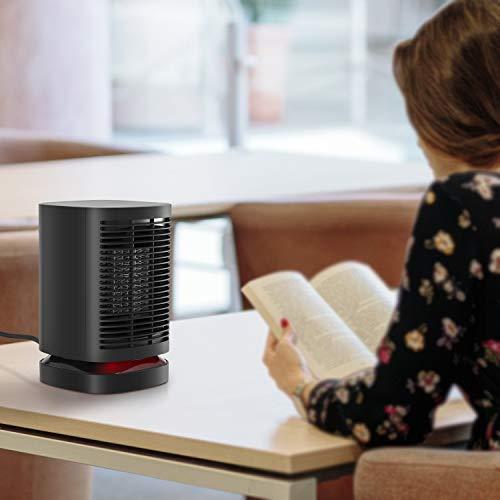 NEXGADGET Calefactor Cerámico PTC 950W Calentacdor Eléctrico de Espacio Personal de Aire Caliente con Oscilación Automática, Protección contra Sobrecalentamiento y Volcado, para Hogar y Oficina