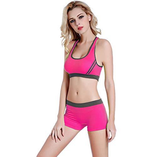 DUKUE Gym Set Frauen Yoga Set Frauen Workout Kleidung Gym Wear Jogging Sport Set Sport BH mit Yoga Shorts 2 Stück