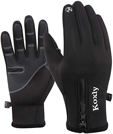 Koxly Winter Gloves Touch Screen Fingers Warm Gloves Insulated Anti Slip Windproof Waterproof product image