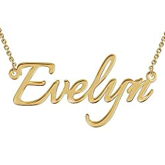 Totally trendy, show the world who you are! Every stylish woman should have a Custom Nameplate Necklace in their jewelry box. Fashioned in sleek sterling silver, rose gold, or 14K gold plated - sculpted in a flowing script font. If you are on the hun...
