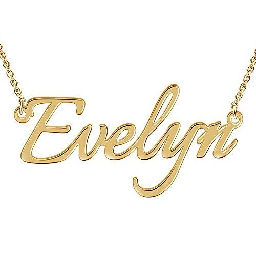 SOUFEEL Collar Nombre Personalizado Colgante Plata de Ley Cadena 45CM Ajustable Regalo para Fmailia Madre Novia Mujer Amiga