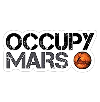 Occupy Mars SpaceX Decal Sticker - Sticker Graphic - Auto Wall Laptop Cell Truck Sticker for Windows Cars Trucks