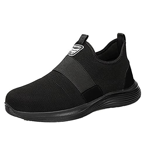 Zapatillas Seguridad Hombre Trabajo,Zapatos De Seguridad con Punta De Acero para Hombre - Calzado De Industrial Y Deportiva,Cómodos Ligeros Y Transpirables 43 EU