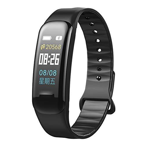 HaiQianXin kleurendisplay smart armband wekker trilalarm bloeddrukmeting calorieën slaapkwaliteit armband (kleur: blauw)