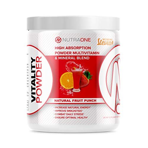 Vitality Vitamin Powder by NutraOne – Powdered Vitamin and Mineral Supplement Reds Blend (Fruit Punch - 30 Servings)