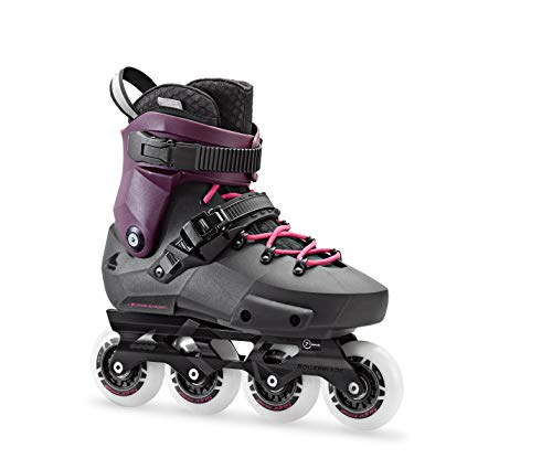 Rollerblade Twister Edge Women's Adult Fitness Inline Skate, Black and Purple, High Performance Inline Skates, 10