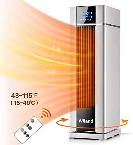 Heizgeräte,LCD-Elektroheizung mit Fernbedienung,Timer, 2000 W Klimaanlage Elektrische Heizung Lüfter 3 Modi Temperatur,automatische Konstanttemperatur Heizung für Wohnzimmer/Bad/Schlafzimmer