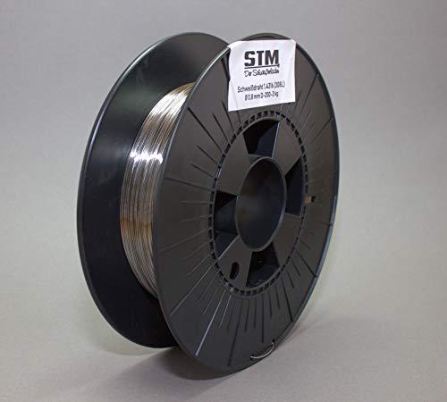 Edelstahl Schweißdraht VA V2A 308L 1.4316 0,8mm 0,5-15kg MIG MAG Niro Inox STM (Ø0,8mm D200 2kg)