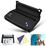 Life Basis Tattoo Stencil Transfer Machine Thermal Tattoo Kit Copier Printer Thermal Printer for Temporary and Permanent Tattoos Black, Classic Version