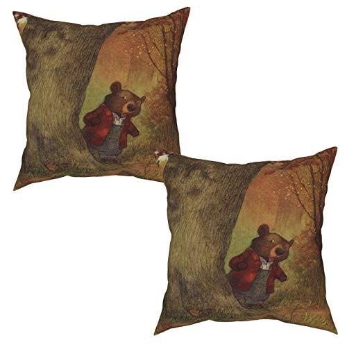 LESIF - Set di 2 federe decorative per cuscino, motivo Christopher Denise, quadrate e morbide, per divano, sedia, 50 x 50 cm
