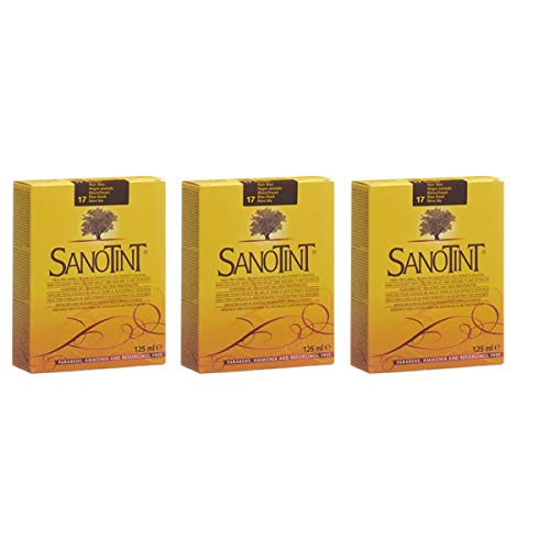 SANOTINT TINTA CLASSIC FARBE 17SCHWARZ BLAU -3 Packungen - 3x125 ml