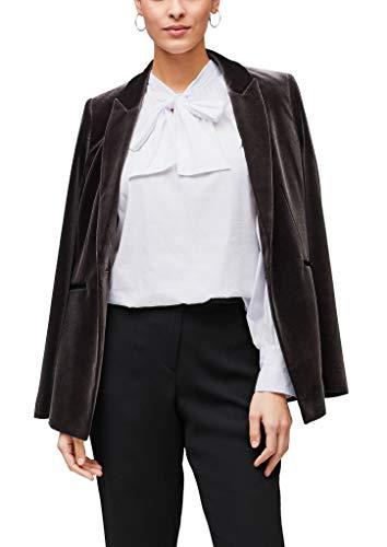 s.Oliver BLACK LABEL Damen Popeline-Bluse mit Schluppenkragen White 42
