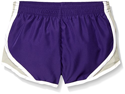 Soffe Girls' Big Team Shorty Short, New Purple, X-Large