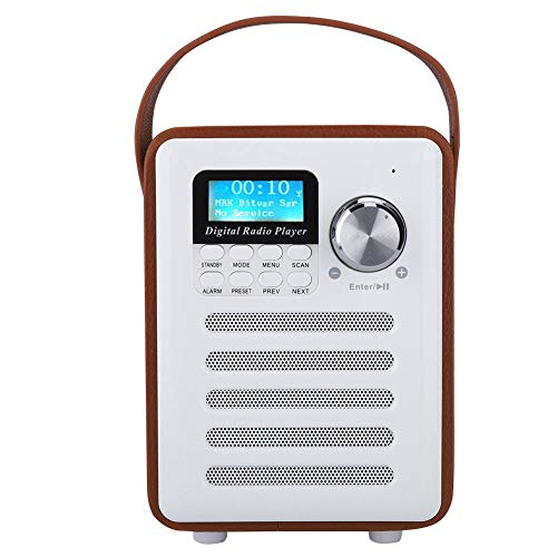 Mxzzand Radios Portátil, Radio FM Portátil Receptor De Radio Portátil Radios Digitales Dab para Cocina Huerta