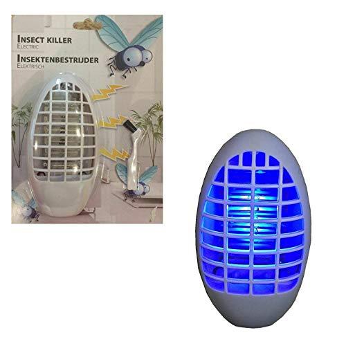 esto24® 2er Set Mückenstecker Nachtlicht mit 4 blauen LED\'s Licht Steckdose ohne Nachfüllen Mückenschutz Insektenschutz