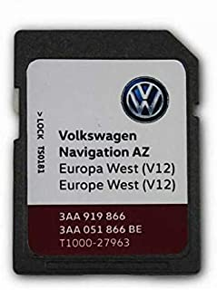Volkswagen Skoda Seat 2020 V12 Westeuropa RNS315 AMUNDSEN + Navigation SD Karte Teilenummer: T1000 27963