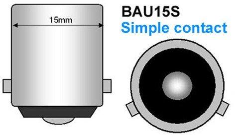 Pack 2 Ampoules PY21W Chromé - Clignotants Avant - C-CLASS W203