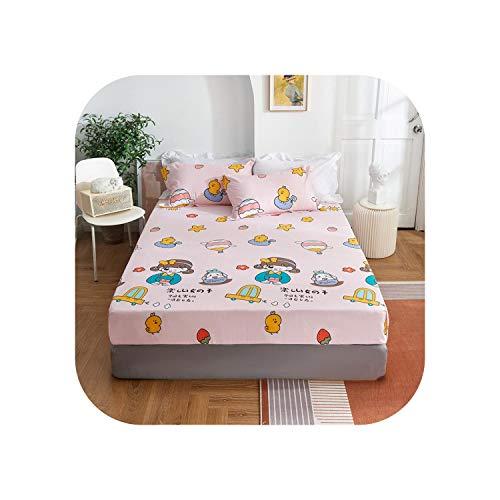 Star Harbor Bettgarnituren |2020 1 Stück Baumwolldruck Bettmatratze Set mit Vier Ecken und Gummibändern-tonghuashiguang-180X200X25cm