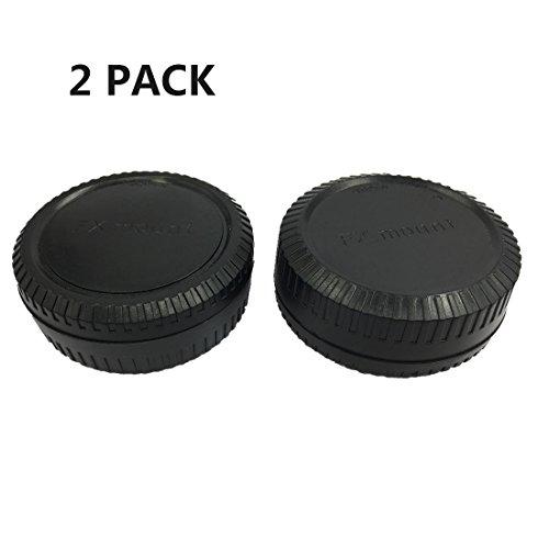 HomyWord 2 Stück Gehäusedeckel und Kamera-Rückdeckel-Set für Fuji X-Mount-Kamera für Fujifilm X-Pro1 X-PRO2 X-E1 X-M1 X-A1 X-E2 X-T1 X-T2 X-T10 X-A3