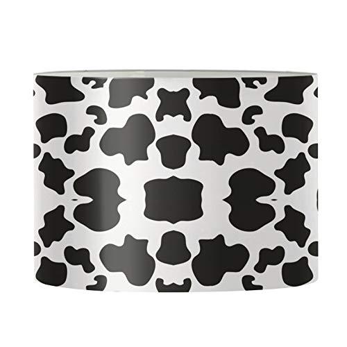 UOIMAG Pantalla para lámpara de escritorio, con estampado de vaca, para mesita de noche, cómoda, moderna lámpara colgante