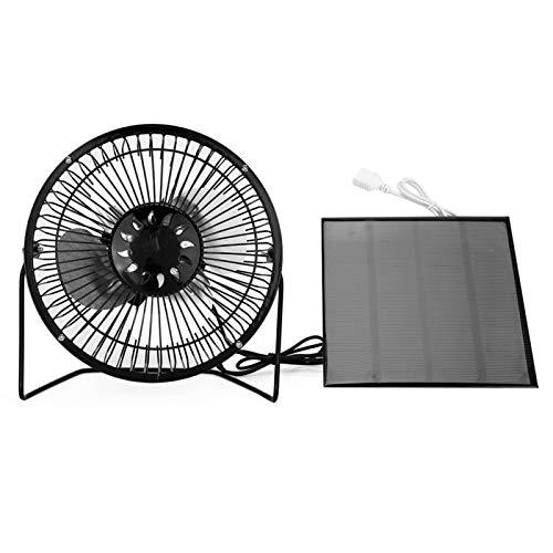 Operalie Ventilador portátil, Mini Ventilador portátil Alimentado por Panel Solar USB para refrigeración Ventilación Hogar Viajar Pesca