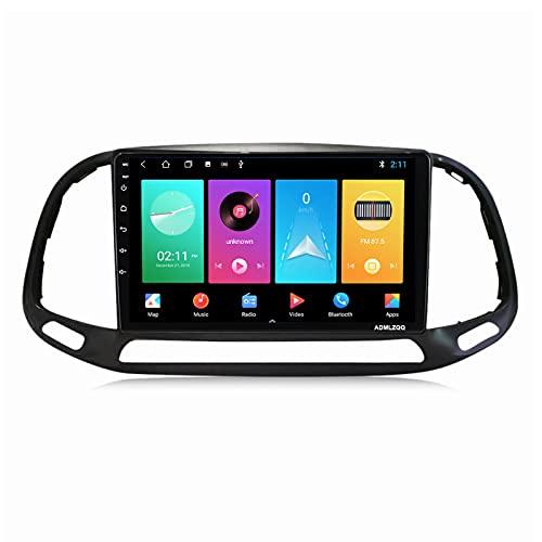 ADMLZQQ Radio Coche In-Dash Estéreo Automóvil para Fiat Doblo 2015-2019, Pantalla Táctil De 9 Pulgadas con Carplay FM Am Bluetooth DSP Cámara Trasera Control del Volante,M100s 4core 1+16g