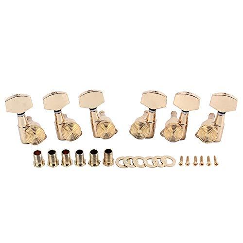 SHENGGLL Sintonizadores Un Conjunto 6 Piezas de Oro Cerradura de Llave de Cadena Clavijas de adaptación sintonizadores Clavijeros for Guitarra eléctrica acústica de Bloqueo Schaller Estilo