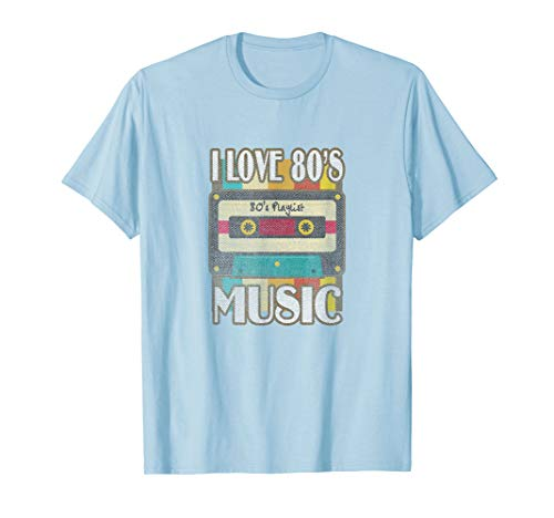 Adults I Love 80s Music Cassette T-shirt for Men and Women